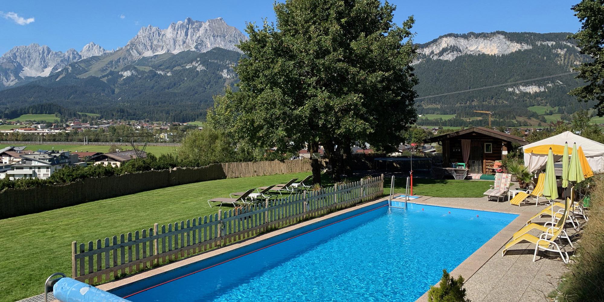 Ferienwohnung St. Johann in Tirol beheizter Außenpool Familienurlaub