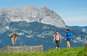 Wandern in St. Johann vor dem Wilden Kaiser